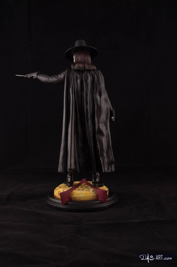 [GK painting #18] V for Vendetta statue - 005 by DasArt
