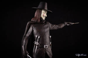 [GK painting #18] V for Vendetta statue - 009 by DasArt
