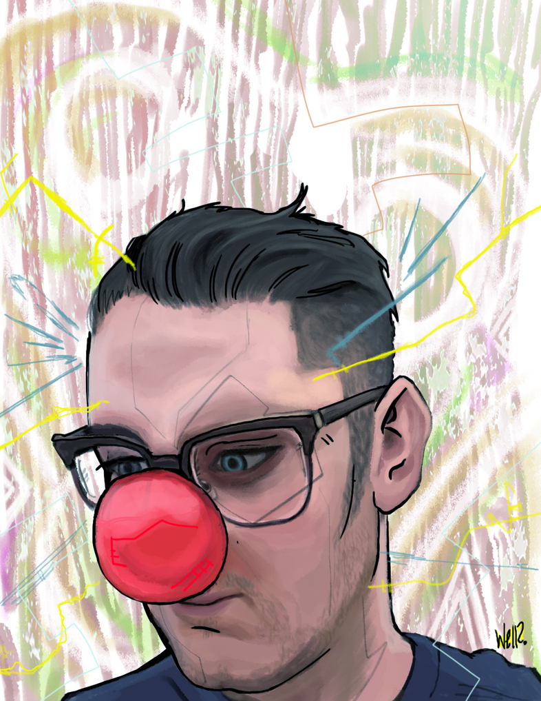 Dakota Rimmer with a Clown Nose by gegojr