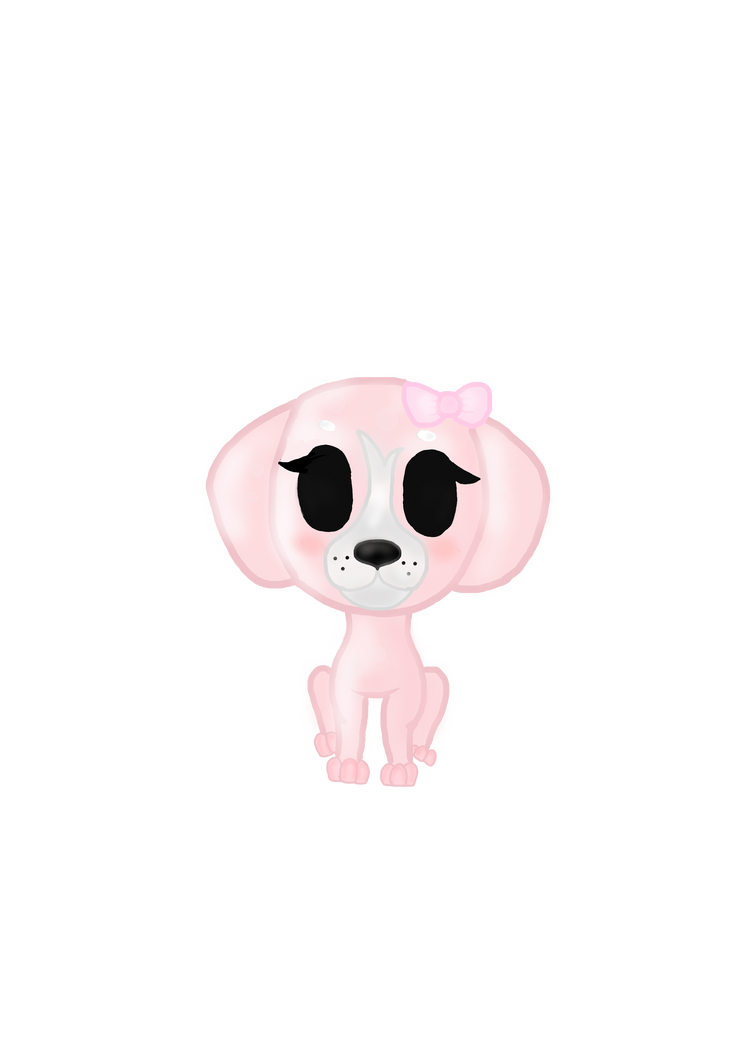 Rose Gold Puppy by MuffetMakesMuffins