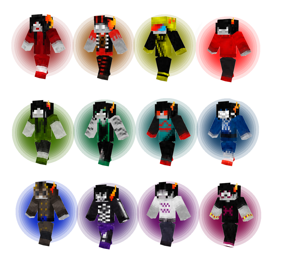 Homestuck PreScratch Trolls Minecraft Skins By Landdwwellers On - Minecraft skins fur mac