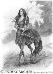 Centaur at Attention by LinzArcher