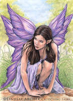 Crouching Fairy - Hidden Feet by LinzArcher