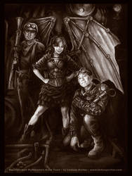 Steampunked Mythbusters 1 by LinzArcher
