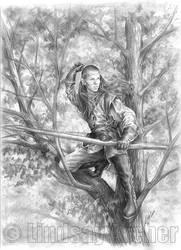 Elven Archer by LinzArcher