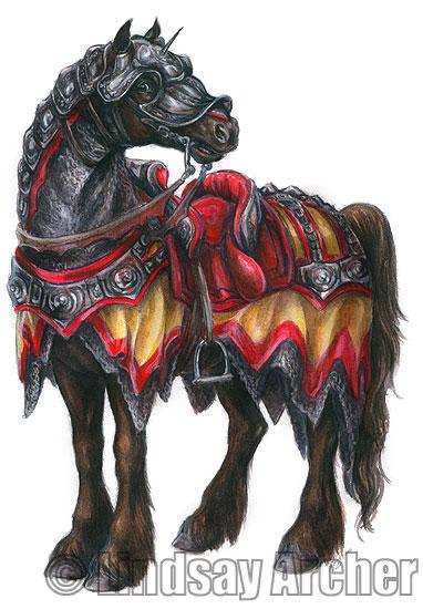 The Lion of Thur Warhorse_Illustration_DL_by_LinzArcher
