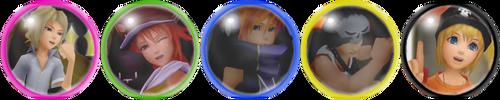 Kingdom Hearts 3D Player Pins by Falchia