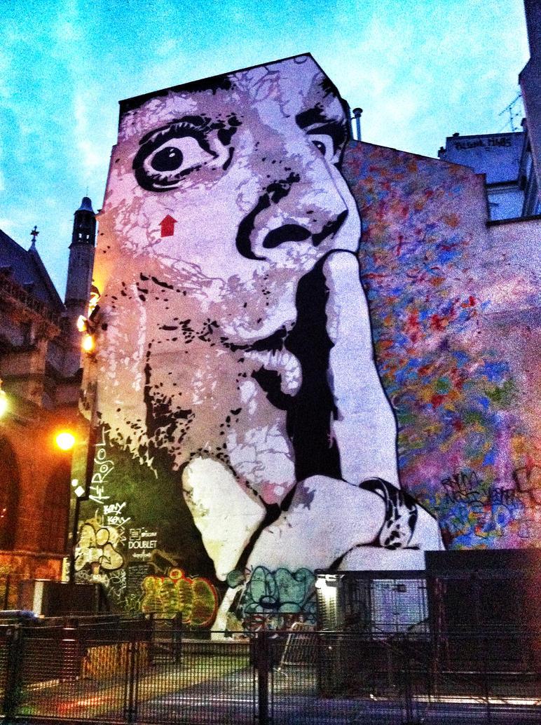street art Pompidou, Paris, France by sheik08