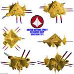 UN Spacy Research ship 01 render