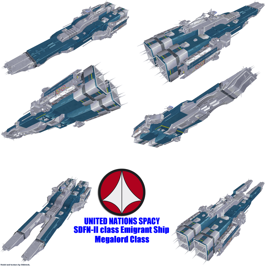 UN Spacy SDFN-II class Emigrant Ship by Chiletrek