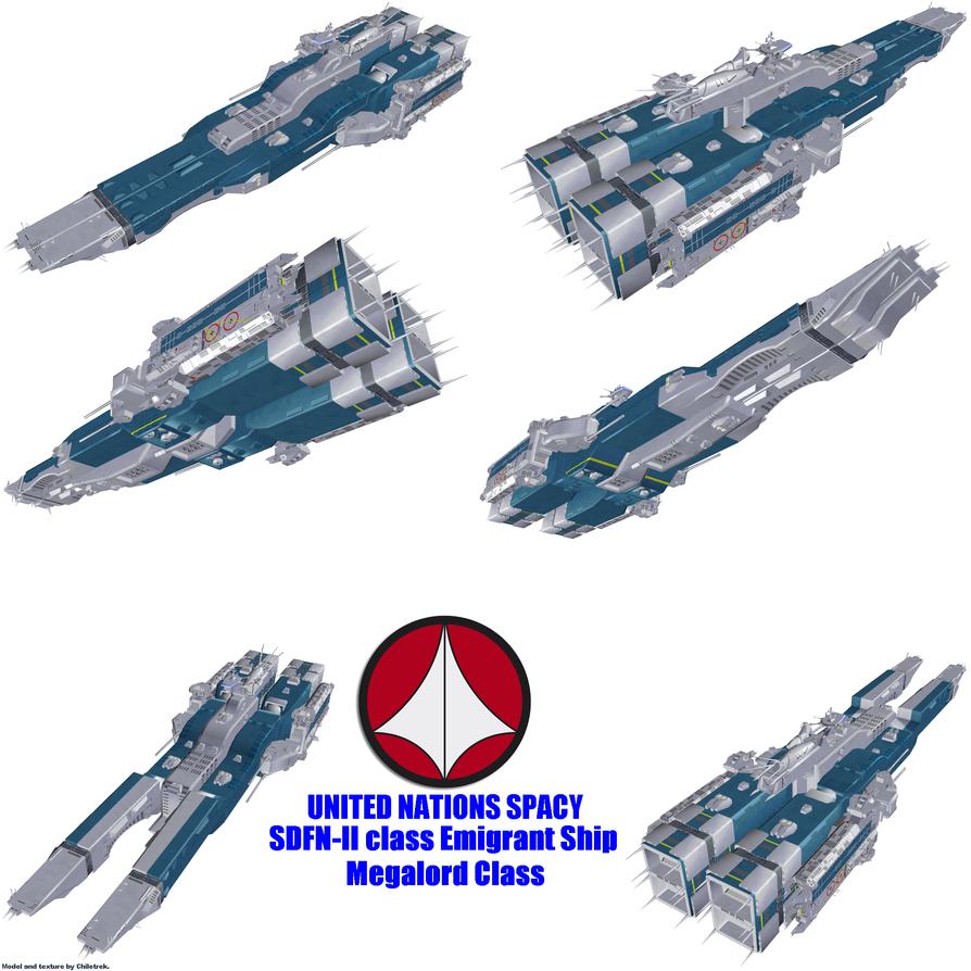 UN Spacy SDFN-II class Emigrant Ship by Chiletrek