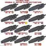 Colonial Original 12 Battlestars
