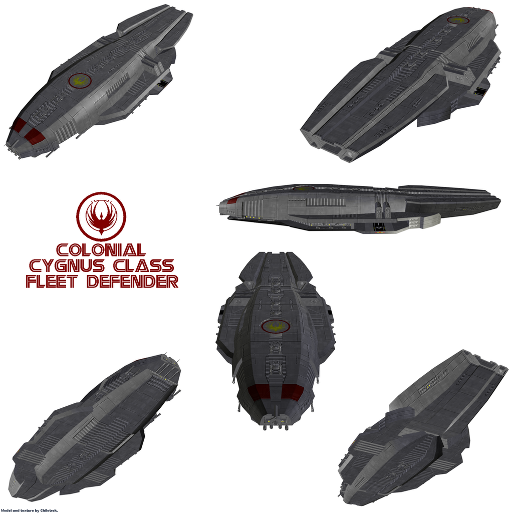 Colonial Cygnus class Fleet Defender by Chiletrek