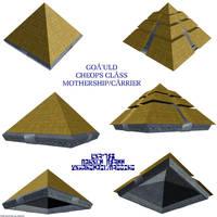 Goa'uld Cheops class mothership by Chiletrek