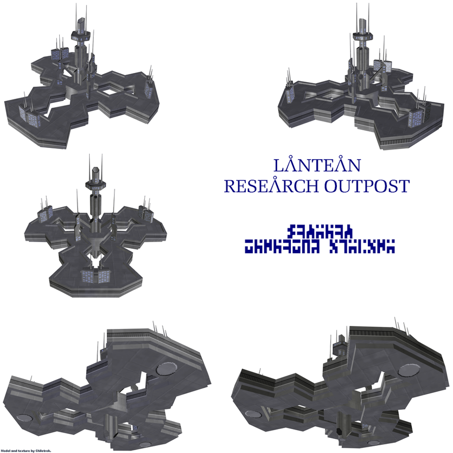 Lantean Research Outpost 1 by Chiletrek