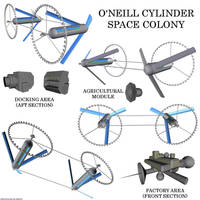 Space Colony - O'Neill Cylinder by Chiletrek
