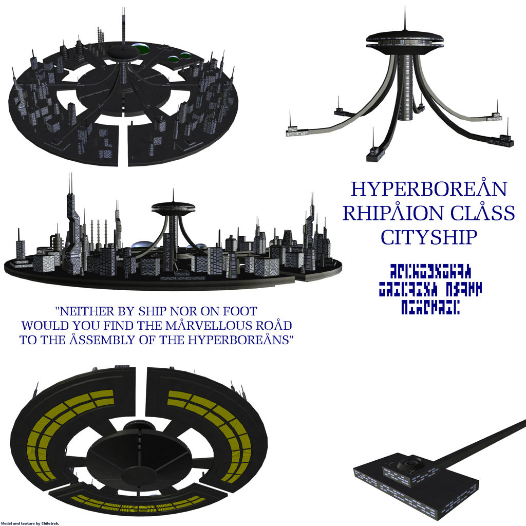 Hyperborean Rhipaion Cityship By Chiletrek On Deviantart