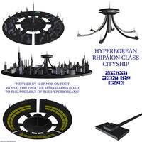 Hyperborean Rhipaion Cityship by Chiletrek