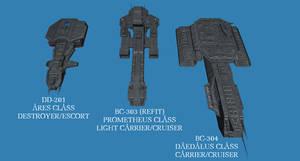 Tau'ri fleet preview 01 by Chiletrek