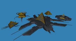 Goa'uld capital ships Preview 01 by Chiletrek
