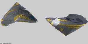 Goa'uld Scout Tel'tak render by Chiletrek