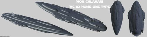 Rebel Alliance MC-82 Home One render by Chiletrek