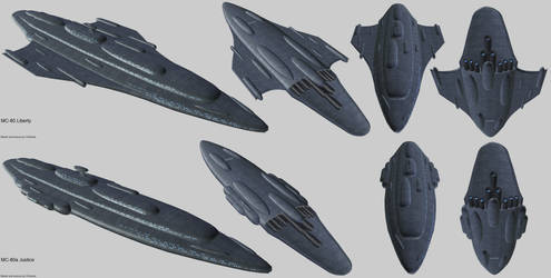 Rebel Alliance MC-80 Liberty and Justice render by Chiletrek