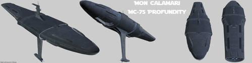 Rebel Alliance MC-75 Profundity render by Chiletrek