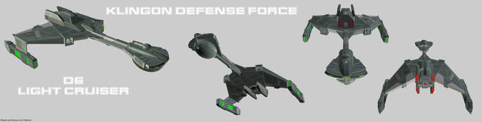 Klingon Defense Force D6 Cruiser by Chiletrek