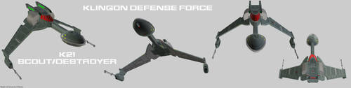 Klingon Defense Force K21 Scout (Flight) by Chiletrek