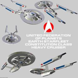 Starfleet Heavy Cruiser Constitution render