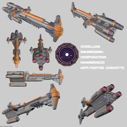 Corellian Corvette Hammerhead render