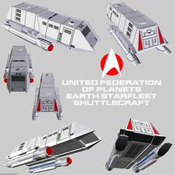 Starfleet Shuttlecraft 01 render