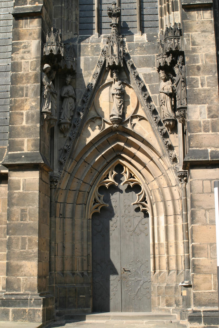 Gothic cathedral door by almudena-stock ... & Gothic cathedral door by almudena-stock on DeviantArt