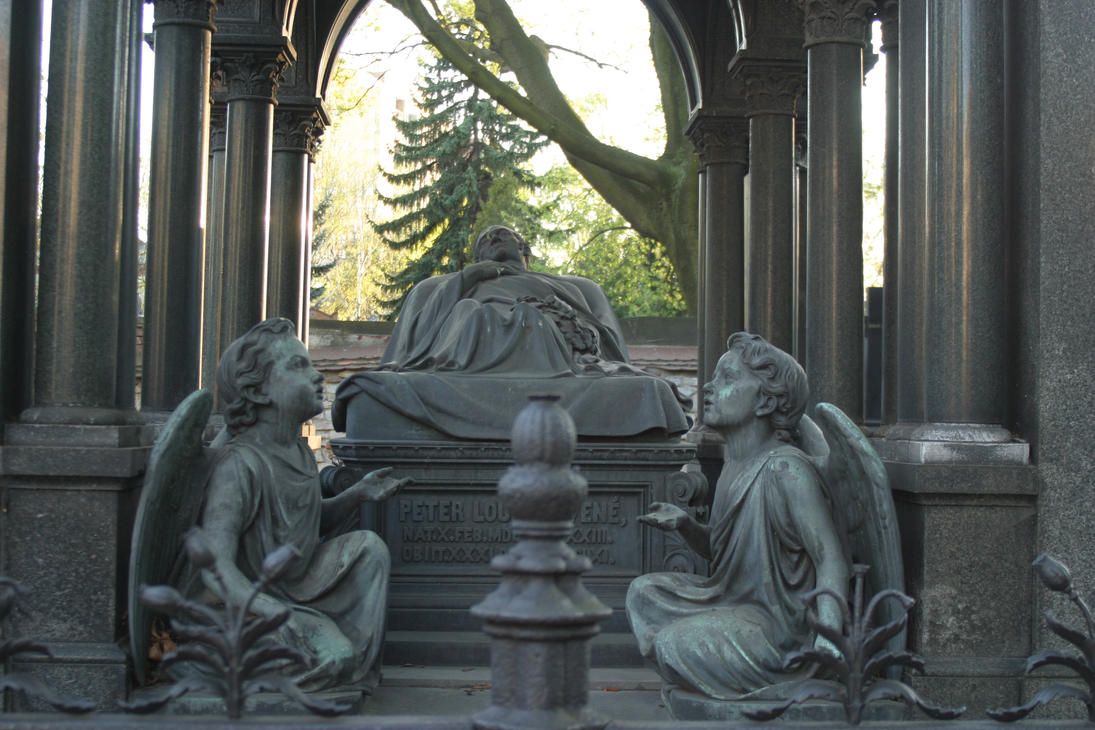 Grave with angels by almudena-stock