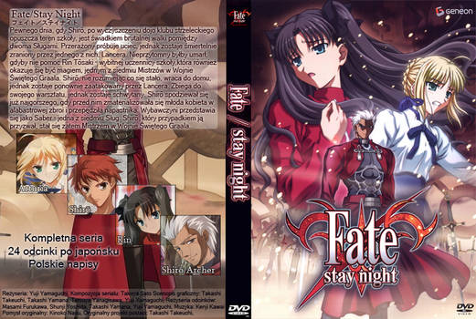 Fate Stay Night DVD Cover
