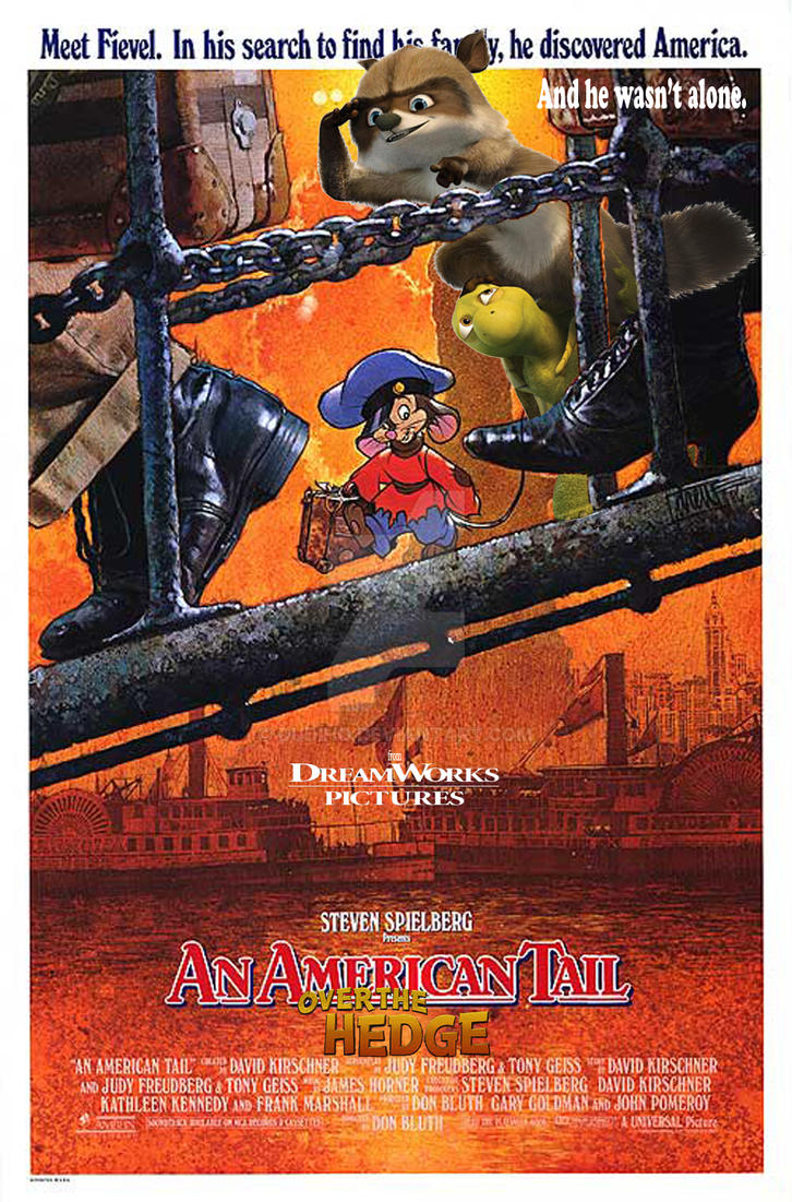 an american tail over the hedge poster by dudiho on deviantart