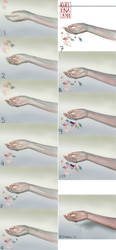 hand - step by step image by medusainfurs