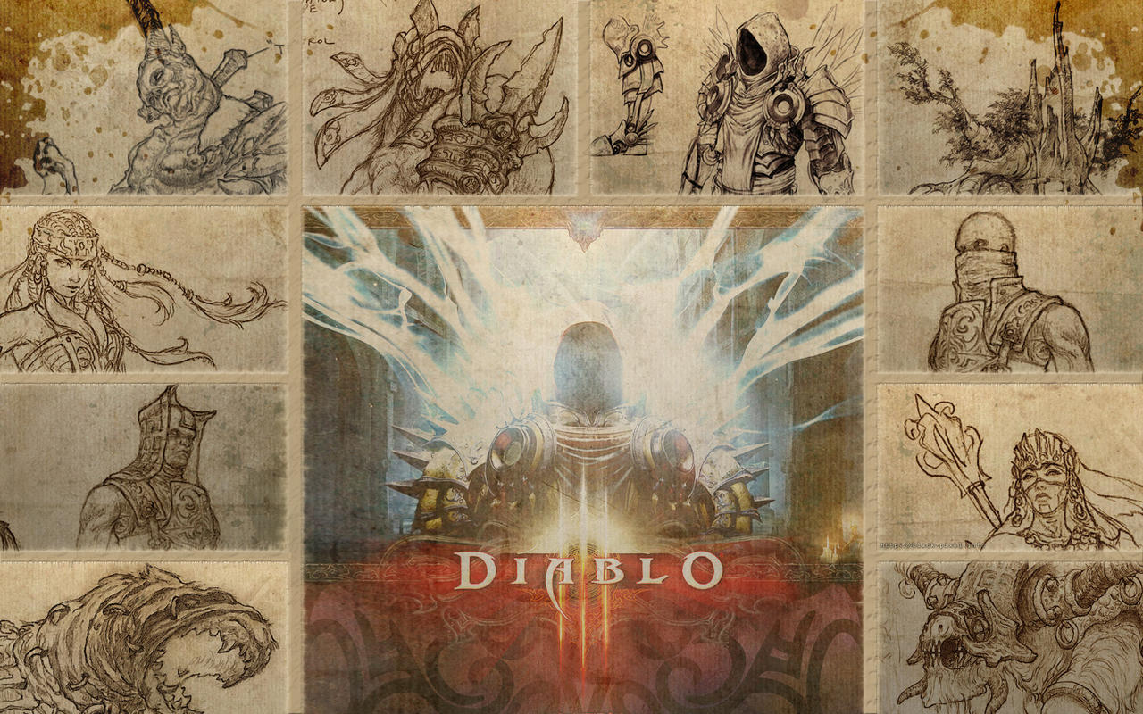 Diablo 3 Collage by Black-Pixel