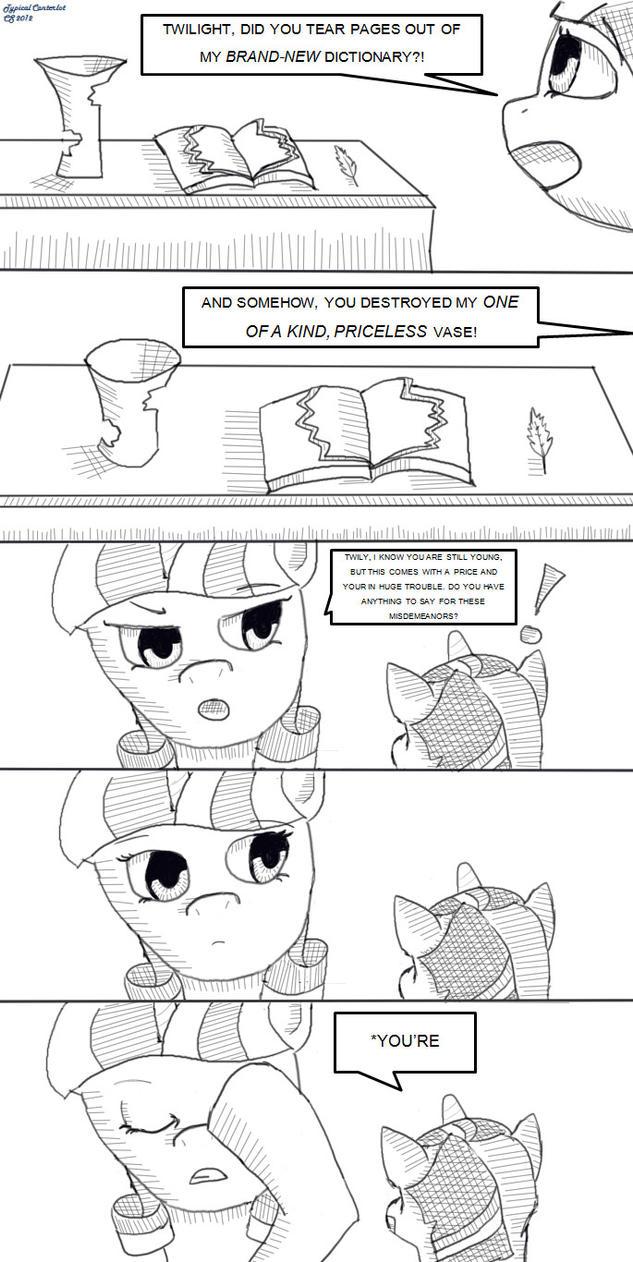 Comic- Typical Canterlot by ChocolateSun