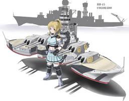 Kanmusu Request: USS Colorado (BB-45) 'Big Seven' by Redundant-Cat
