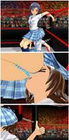 Haruka vs Chihaya : School girl fight 5 by yakiniku63080