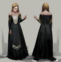 Lavellan`s Halamshiral dress by HeathWind