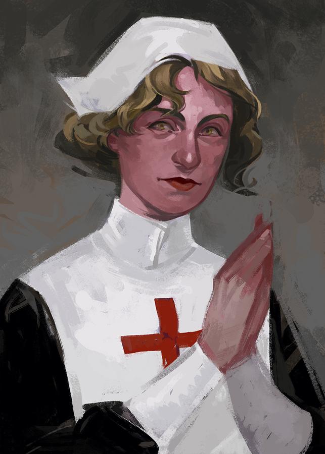 Nurse portrait by HeathWind