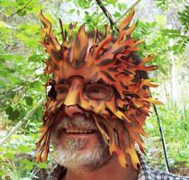 Fire Fury Leather Mask by TomBanwell