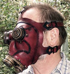 Steampunk Gas Mask in Red