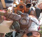 Maker Faire steampunk masks