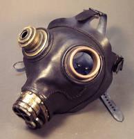 Black Leather Gasmask by TomBanwell