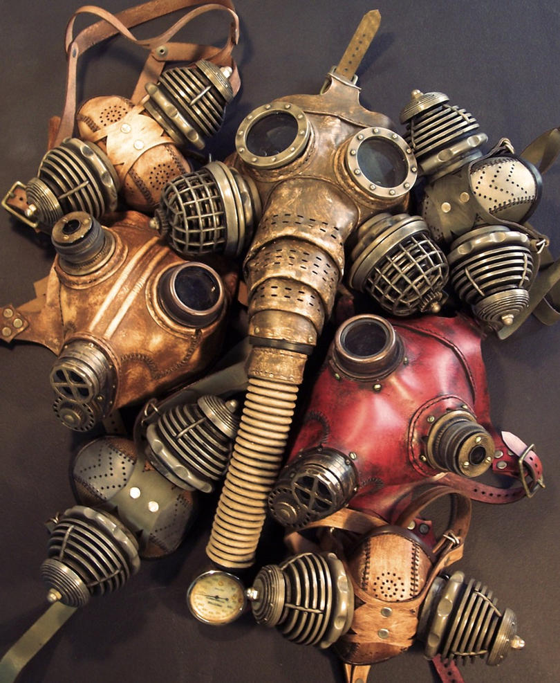 Steampunk Gas Masks by TomBanwell