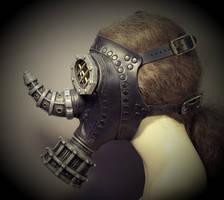 Rhino Steampunk Gas Mask by TomBanwell